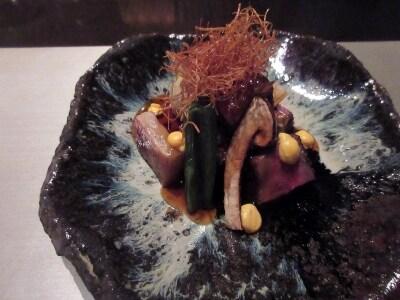 強肴/和牛と松茸の炭火焼きすき煮仕立て