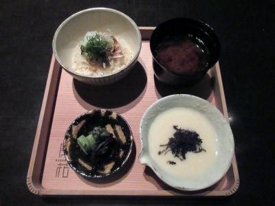 食事/鮎麦とろ御飯