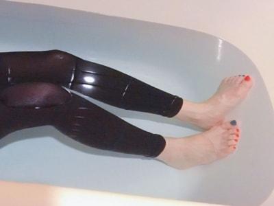 直接レギンスを履いて入浴するだけでOK
