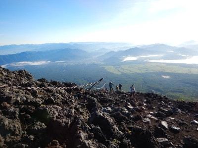 富士山から見下ろす景色