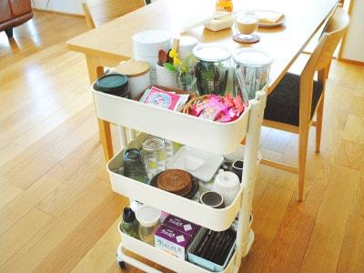 IKEAキッチンワゴンの収納力を実証