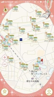 地図上にアイコンが表示されるのでタップして詳細確認