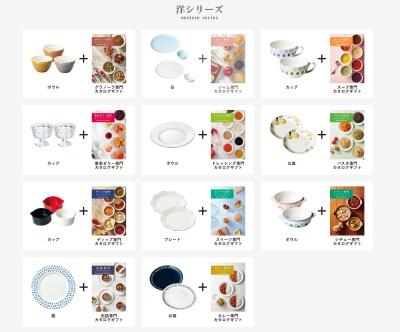「テーブルストーリー」の商品一例。組み合わせは約30種類と豊富