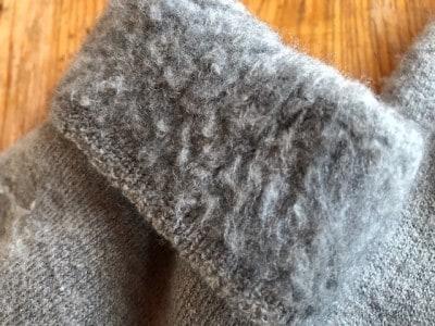 ループ状の裏起毛で、暖かさを包み込む