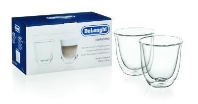 デロンギ ダブルウォールグラス(2個セット)カプチーノ