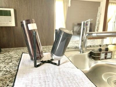 安定感があるので、水筒を乾かす時にも便利