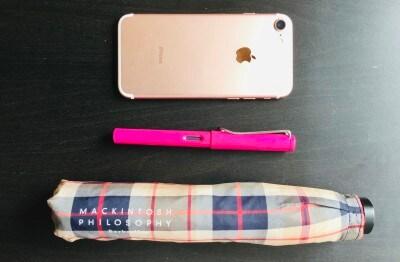 iphoneより軽い!ペンケースに間違われることも。
