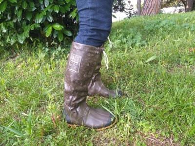 機能的な上に、ブーツ風に履けておしゃれな長靴◎