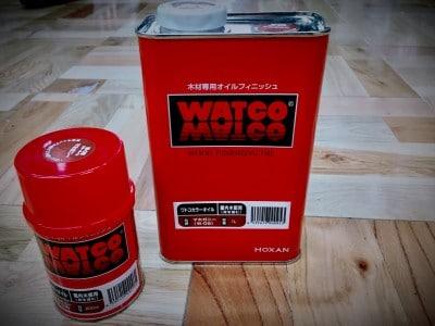 ワトコオイル200mlと1リットル缶
