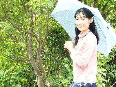 傘の使用風景