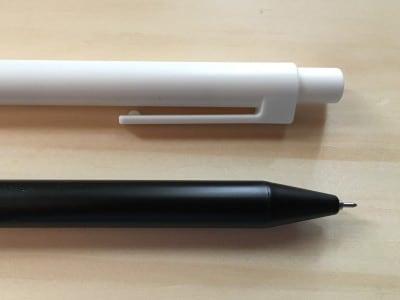 無印良品の「詰め替えるペン。」アップ