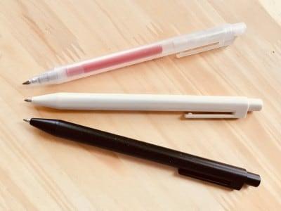 無印良品の「詰め替えるペン。」ボディ3色展開