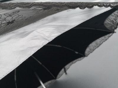 特殊なシルバーコーティング生地でできているリーベンのひんやり傘