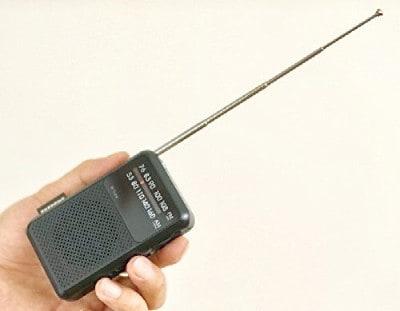 アマナダとビックカメラのコラボラジオ。ロッドアンテナ