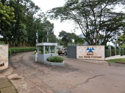 首都キガリにある実物のホテル ミル・コリンズ。あの時、行き場のない多くのツチ族が、この世の最後の望みを託してここへ駆け込んだ。