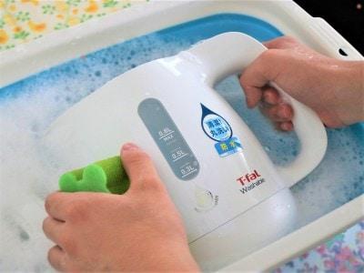 洗剤を付けて水洗いしても平気です!