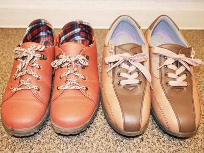 靴紐を変えて、自分好みの靴にカスタマイズも○