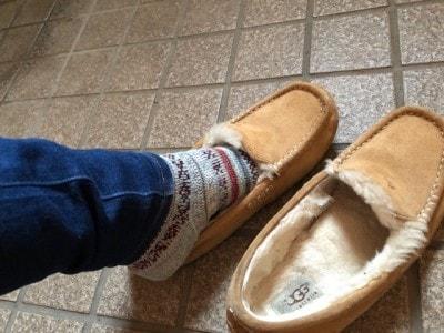 靴紐もないから足がすっと入る。玄関での時間ロスもなし