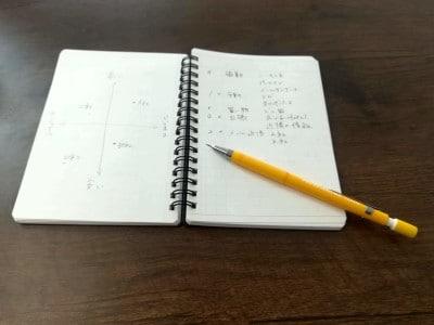 裏写りしにくい用紙で、裏面は無地なので、自由に筆記することができます