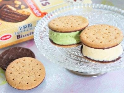 手作りクッキーサンドアイスは子ども達に大人気のパーティーフードです。