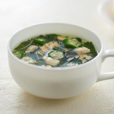 無印良品の「食べるスープ オクラ入りねばねば野菜のスープ」