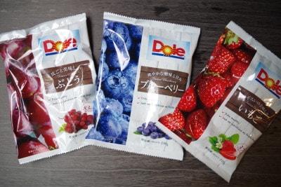 Doleの「冷凍フルーツぶどう・ブルーベリー・いちご」