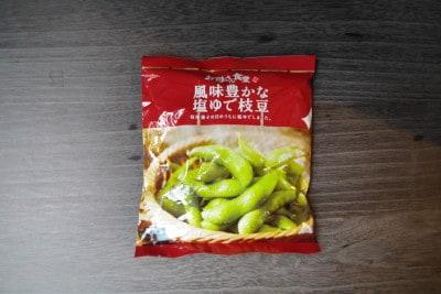 ファミリーマートの「風味豊かな塩ゆで枝豆」