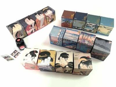 浮世絵から色の着想を得た「浮世絵インク」シリーズ。ナカバヤシの高級筆記具ブランド「TACCIA(タッチア)」から発売中です