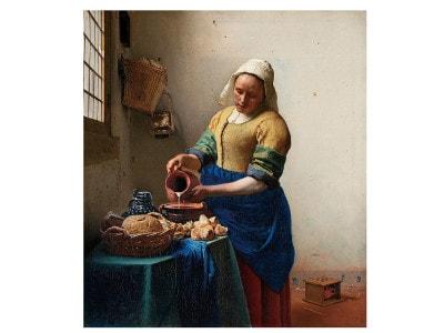 フェルメール《牛乳を注ぐ女》1660年頃