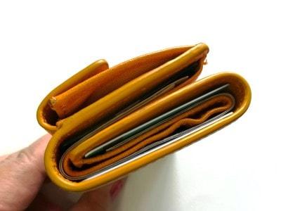 三つ折り財布を上から見た図