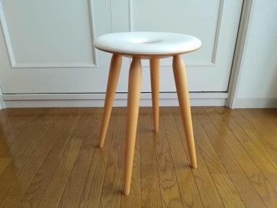 1955年発売、1966年グッドデザイン賞受賞 天童木工「リングスツール」