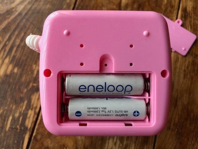 単三電池が2本必要